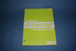Suzuki LT-F250 250F Service Shop Repair Manual Factory