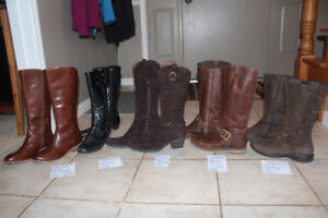 Various Leather Womens Boots