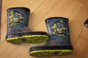Size 1 Ninja Turtle Rubber Boots