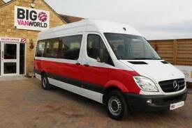 2011 MERCEDES SPRINTER 316 CDI 163 TRAVELINER LWB 15 SEAT BUS HIGH ROOF MINIBUS