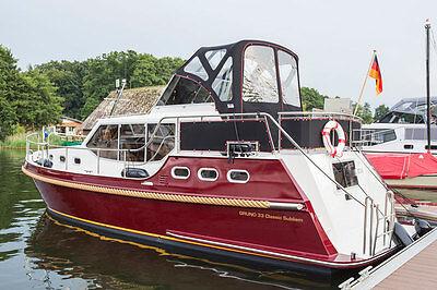 Hausboot 11 m lang für 4 Personen auf der Müritz mieten  - 10% Bonus sichern!