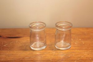 Pair of Old Small Glass Creamers