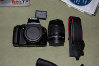 DSLR T3 by Canon, 18-55mm IS II lens + accessories