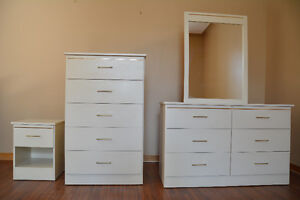 Bedroom furniture set (3 pieces: dresser, wardrobe, nightstand)