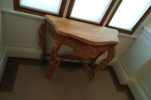 Wood carved table