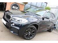 2013 63 BMW X5 3.0 XDRIVE30D M SPORT 5D AUTO-7 SEATER-OYSTER DAKOTA LEATHER-REVE