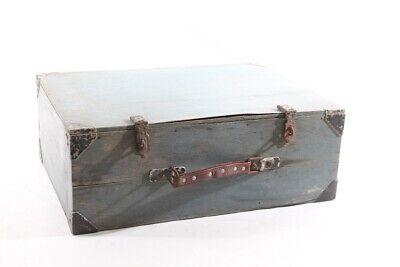 Antiguo Maleta Madera Caja Old Vintage Decoración de Transporte