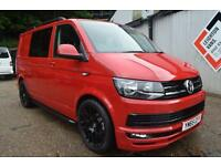 2015 65 VW T6 Transporter T30 140 Kombi Sportline Pack H/line Leather Cherry Red