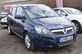 Vauxhall Zafira ENERGY 1.7CDTi 16v ecoFLEX ** 6 MONTH WARRANTY ** (blue) 2010