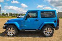 2015 JEEP WRANGLER SAHARA 2 DOOR IN GORGEOUS HYDRO BLUE !!