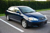 2003 Toyota Corolla LE Sedan, SEULEMENT 119,000 KM, TRES PROPRE.
