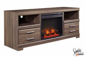 Brand NEW Frantin TV Stand with Fireplace! Call 519-895-0012!