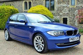 BMW 120 2.0 auto 2007 i SE. 63K MILES, FULL S/HISTORY, OCT MOT,