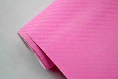 5,5€/m² 4D Carbon Folie - pink - 1500 x 152 cm flexibel Blasenfrei Auto Folie
