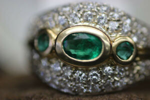 14K Natural Emerald and Diamond Ring $5,775.00 Value (#2013)