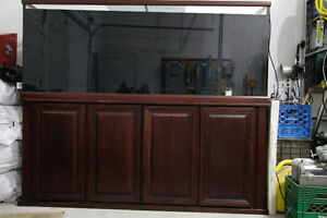 210 gal aquarium with stand and equip
