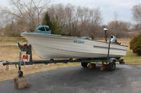 16' Fibreglass Fishing Boat