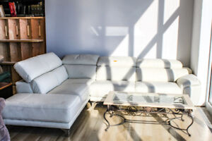 Armano 2PC White Sectional - New, Factory Return - PRICE DROP