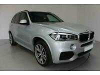 2017 SILVER BMW X5 3.0 XDRIVE30D M SPORT DIESEL AUTO 4X4 CAR FINANCE FR £546 PCM