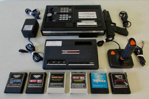 Huge Lot Colecovision Video Game Console/5 Games/3 Controllers!