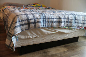 """King Koil """"Brier"""" Euro Top double mattress, boxspring, and frame"""