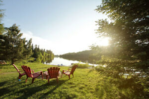 4brm waterfront available Victoria Day W/E. Val-des-Lacs