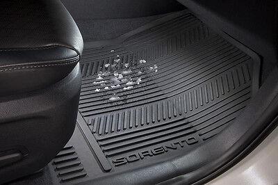 Oem Genuine 2016   2018 Kia Sorento All Weather Rubber Floor Mats Slush Mats Set