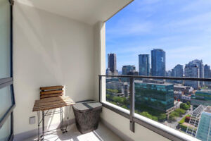 $2600/ 1 br + den 608 sq ft - Fully Furnished condo w/ City View