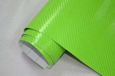 9€/m² 4D Carbon Folie - GRÜN  100 x 152 cm flexibel Auto Klebe Folie Wrapping