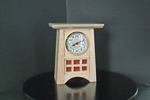 mantel clock solid maple