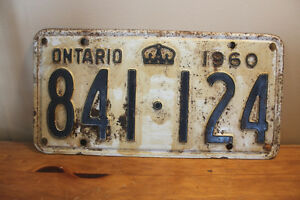 Old Ontario License Plate - 1960