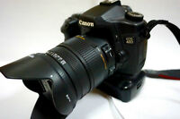 Canon SLR 40D with Sigma 17-70 lens