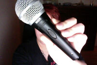 Shure PG58 microphone comes with cords