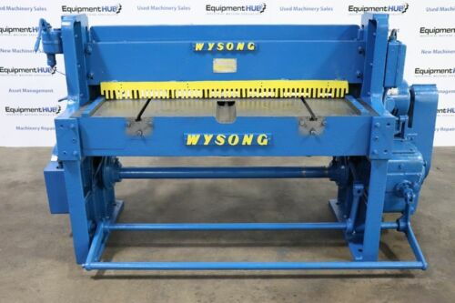 "Wysong 1252 12 Gauge x 52"" Mechanical Shear w/ Back Gauge"