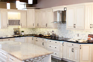 SOLID WOOD KITCHEN/BATHROOM CABINETS & COUNTER TOP