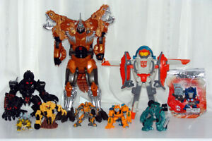 "Transformers Figures Lot Grimlock, etc 3"" to 10 """