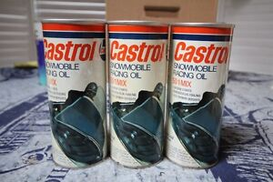 CASTROL SNOWMOBILE RACING OIL TIN CAN FULL NICE GRAPHICS