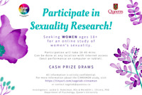 Online study of WOMEN'S sexuality! Cash prize draws available!