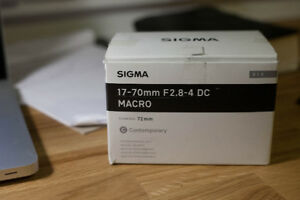 Sigma 17 - 70mm F2.8 - 4 DC MACRO CONTEMPORARY Lens Canon