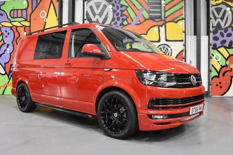 2017 VW TRANSPORTER T6 2.0TDI 140PS KOMBI HIGHLINE SPORTLINE PK CHERRY RED