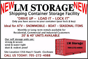 "LM Storage - ""NEW"" Container Storage Facility in Cochrane, ON"