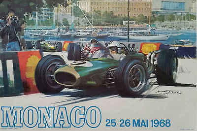 VINTAGE 1965 FERRARI 500 CAR POSTER PRINT 24x36 9 MIL PAPER
