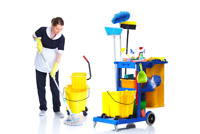 On MONDAY CLEANING'S LADYS AVAILABLE