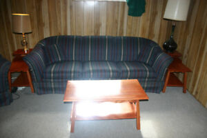 Sklar Peppler Sofa with Chair and Coffee table with 2 End tables