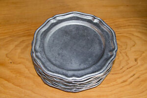 QUEEN ANNE PEWTER DINNER AND DESSERT PLATES West Island Greater Montréal image 3