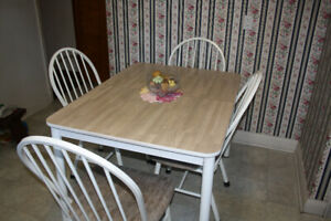 Rectangular Kitchen Table and Four (4) Chairs