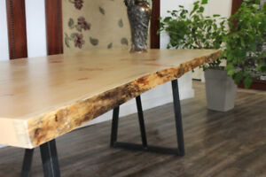 Custom Live Edge Tables