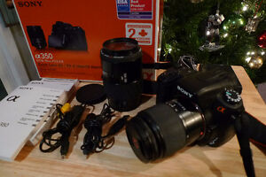 Sony A 350 with 2 Lenses   Excellent Condition