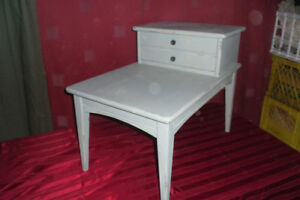 BLUE TABLE WITH DRAWER