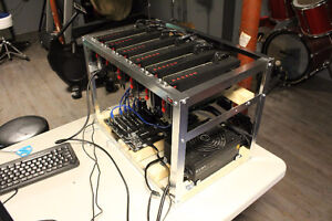 Mining Rig (+/-160 MH/s for Ethereum) - 6  AMD RX 480 GPU's